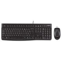 Logitech MK120 keyboard USB AZERTY Belgian Black