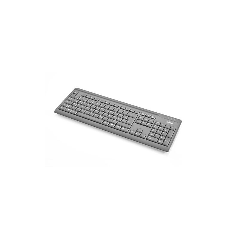 Fujitsu KB410 keyboard USB AZERTY French Black