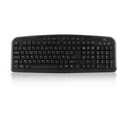 Ewent EW3131 keyboard USB AZERTY Belgian Black