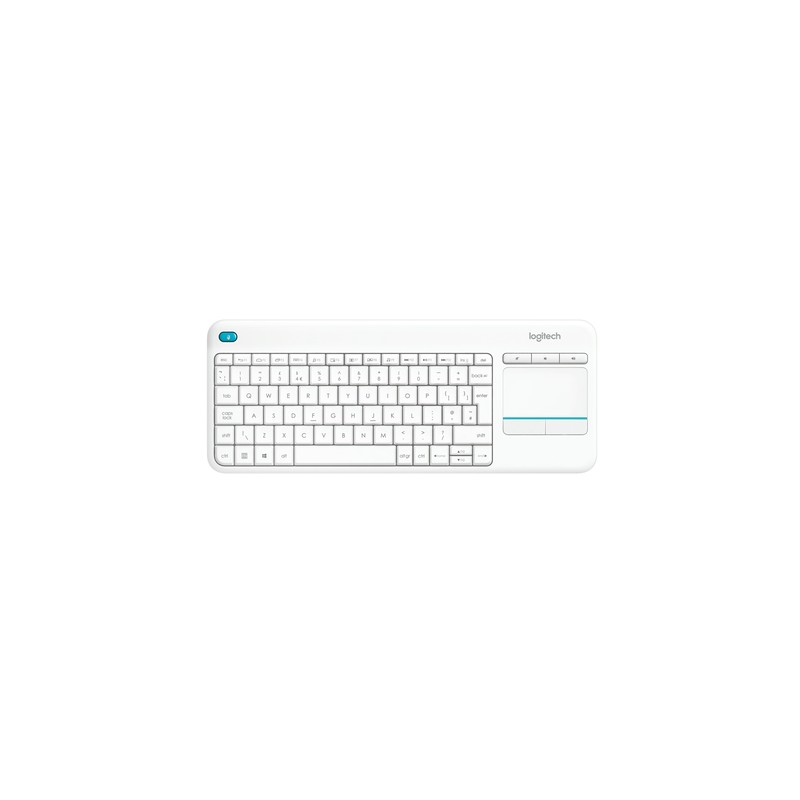 Logitech K400 Plus keyboard RF Wireless QWERTY US International White