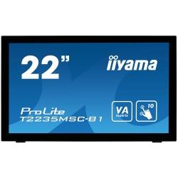 "iiyama ProLite T2235MSC touch screen monitor 54.6 cm (21.5"") 1920 x 1080 pixels Black Multi-touch Tabletop"