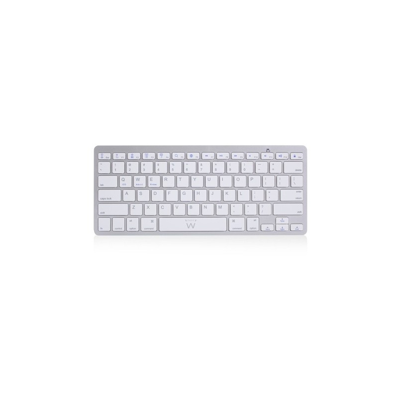 Ewent EW3163 keyboard Bluetooth QWERTY US International Silver,White