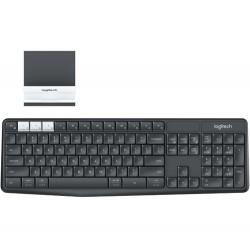 Logitech K375s keyboard RF Wireless + Bluetooth QWERTY US International Graphite,White
