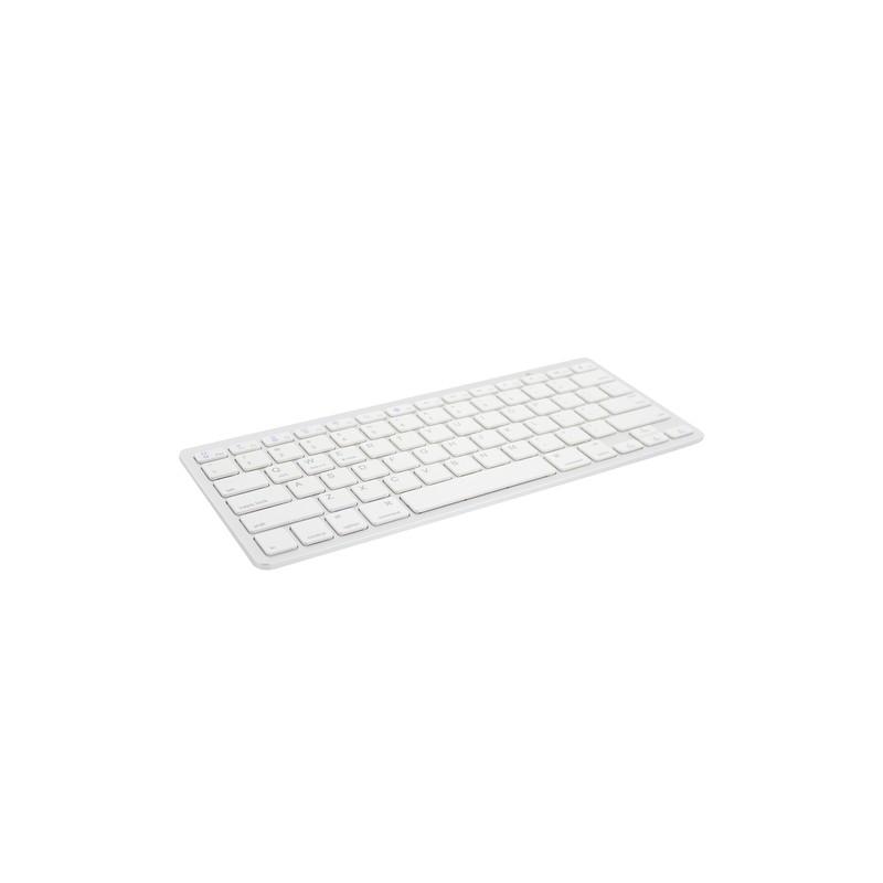 Ewent EW3168 mobile device keyboard AZERTY Belgian Silver,White Bluetooth