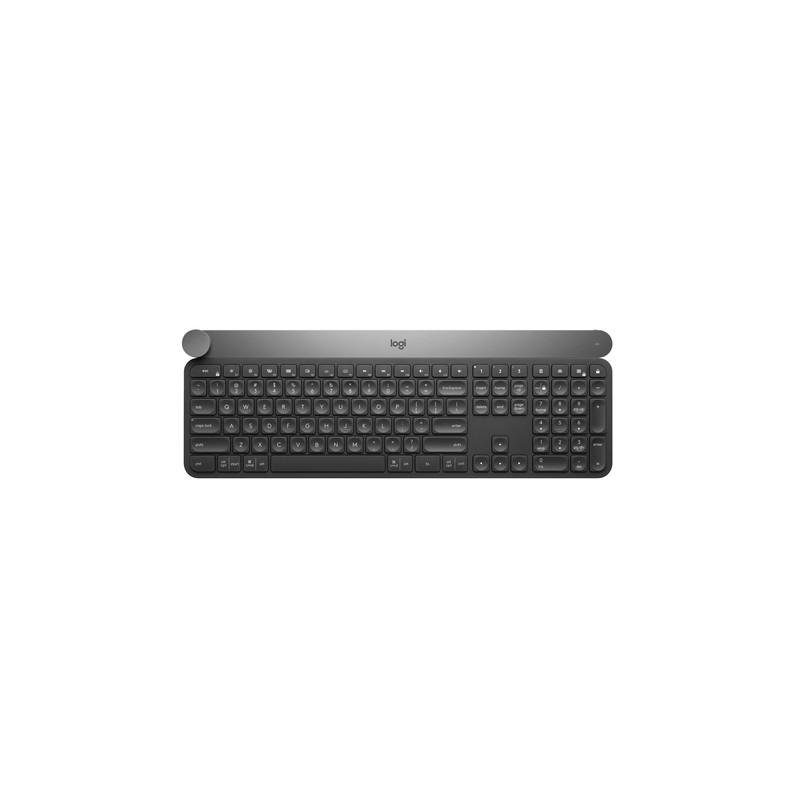Logitech Craft keyboard RF Wireless + Bluetooth QWERTY US International Black,Grey