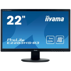 "iiyama ProLite E2283HS-B3 LED display 54.6 cm (21.5"") Full HD Flat Matt Black"