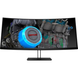 "HP Z38c LED display 95.2 cm (37.5"") 3840 x 1600 pixels Ultra-Wide Quad HD+ Curved Black"