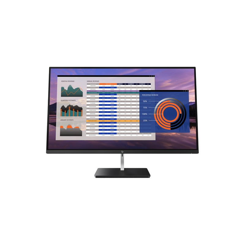 "HP EliteDisplay S270n LED display 68.6 cm (27"") 4K Ultra HD Flat Black,Silver"