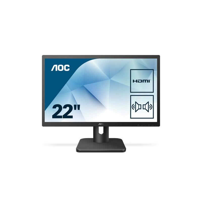 "AOC Essential-line 22E1D computer monitor 54.6 cm (21.5"") 1920 x 1080 pixels Full HD LED Flat Matt Black"