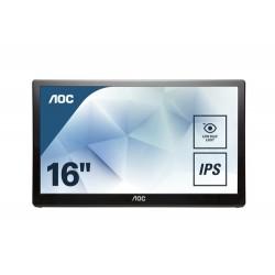 """AOC Style-line I1659FWUX computer monitor 39.6 cm (15.6"""") 1920 x 1080 pixels Full HD LCD Flat Matt Black"""