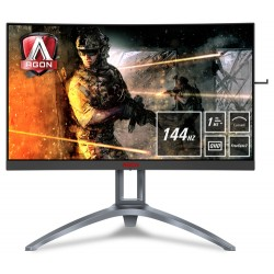 "AOC Gaming AG273QCX computer monitor 68.6 cm (27"") 2560 x 1440 pixels Wide Quad HD LED Curved Black,Red,Silver"