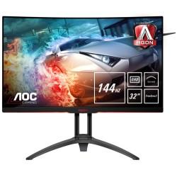 """AOC Gaming AG322QC4 computer monitor 80 cm (31.5"""") 2560 x 1440 pixels Wide Quad HD LED Curved Matt Black"""
