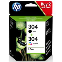 HP 304 Original Black,Cyan,Magenta,Yellow Multipack 2 pc(s)