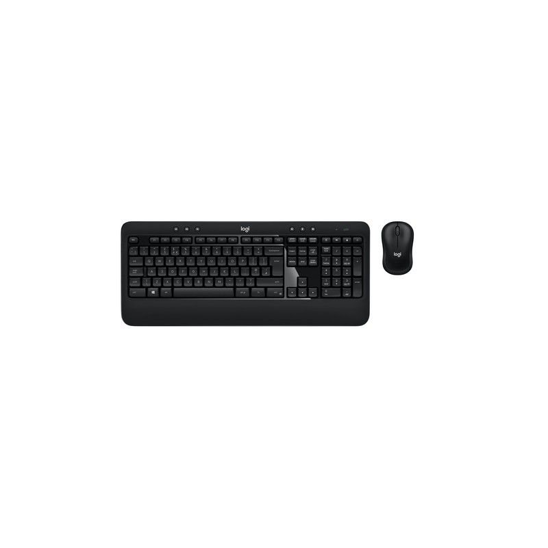 Logitech ADVANCED Combo keyboard RF Wireless Swiss Black