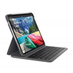 Logitech SLIM FOLIO PRO mobile device keyboard AZERTY Swiss Graphite Bluetooth