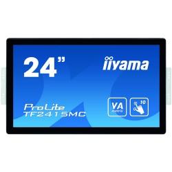 "iiyama ProLite TF2415MC-B2 touch screen monitor 60.5 cm (23.8"") 1920 x 1080 pixels Black Multi-touch Multi-user"