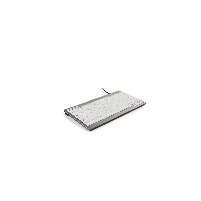BakkerElkhuizen UltraBoard 950 keyboard USB AZERTY Belgian Silver,White