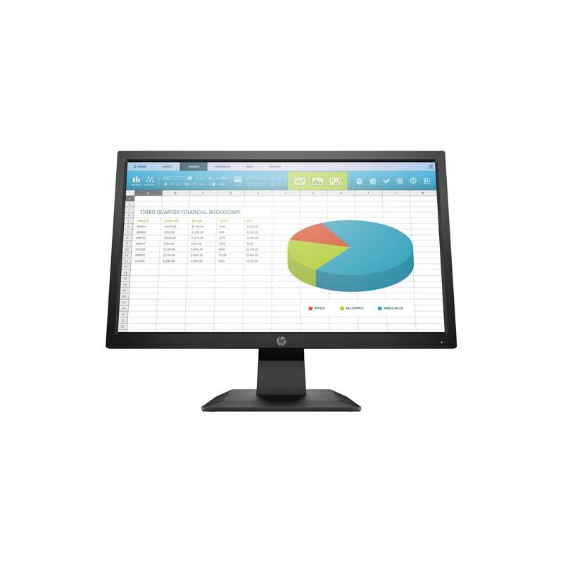"HP P204 computer monitor 49.5 cm (19.5"") 1600 x 900 pixels HD+ LED Flat Black"