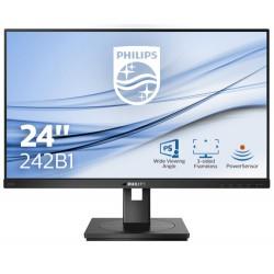 "Philips B Line 242B1/00 LED display 60.5 cm (23.8"") 1920 x 1080 pixels Full HD Black"