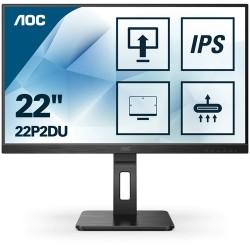 """AOC 22P2DU LED display 54.6 cm (21.5"""") 1920 x 1080 pixels Full HD Black"""
