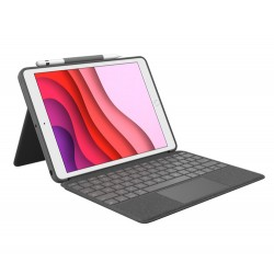 Logitech Combo Touch mobile device keyboard QWERTZ Swiss Graphite Smart Connector
