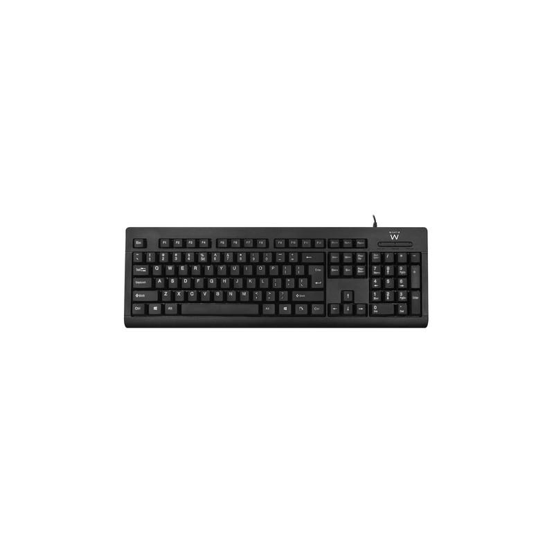 Ewent EW3190 keyboard USB QWERTY US International Black